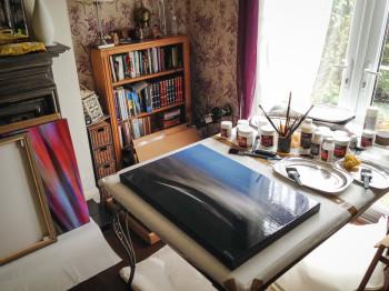 Nat Coalson Studio Painting