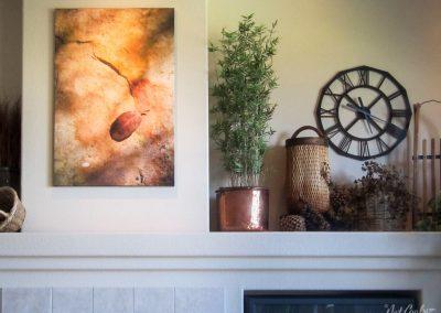 Leaf on Sandstone - Jensen Residence